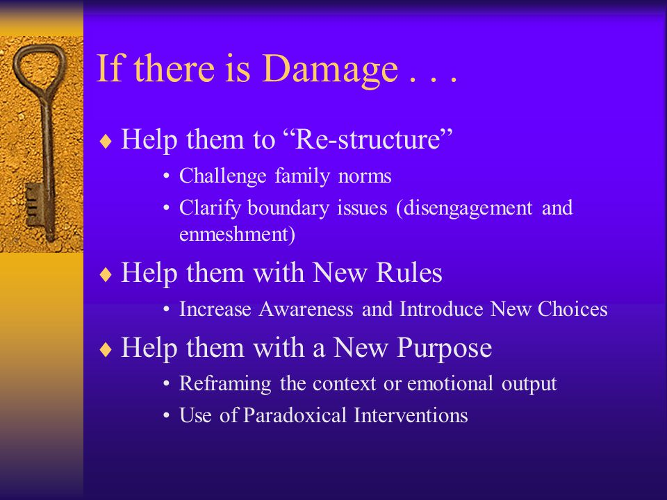 If there is Damage...