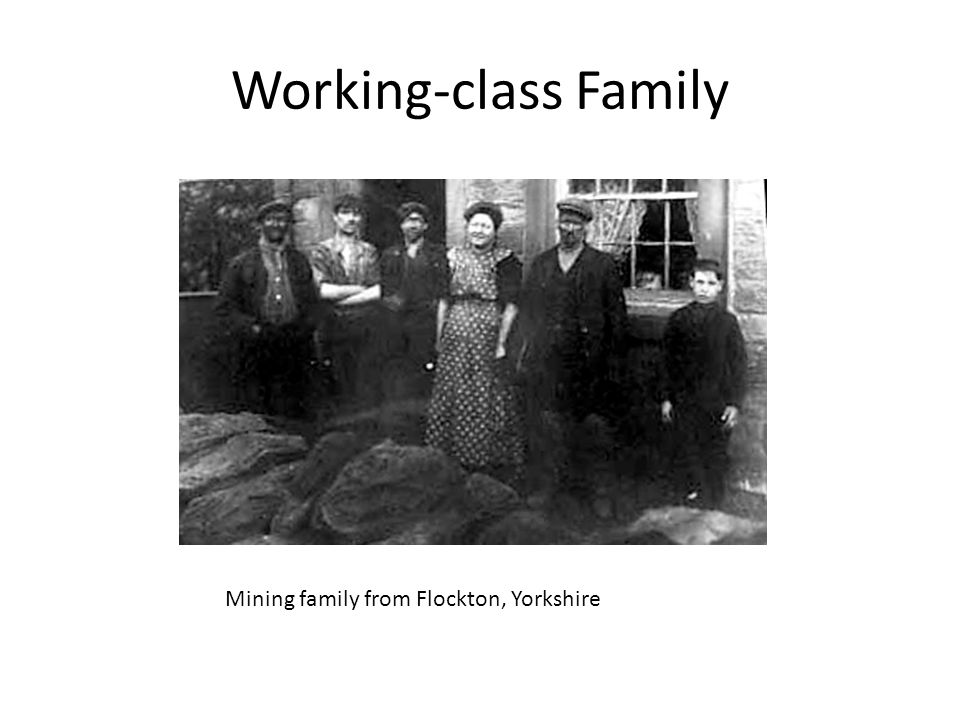 Working-class Family Mining family from Flockton, Yorkshire