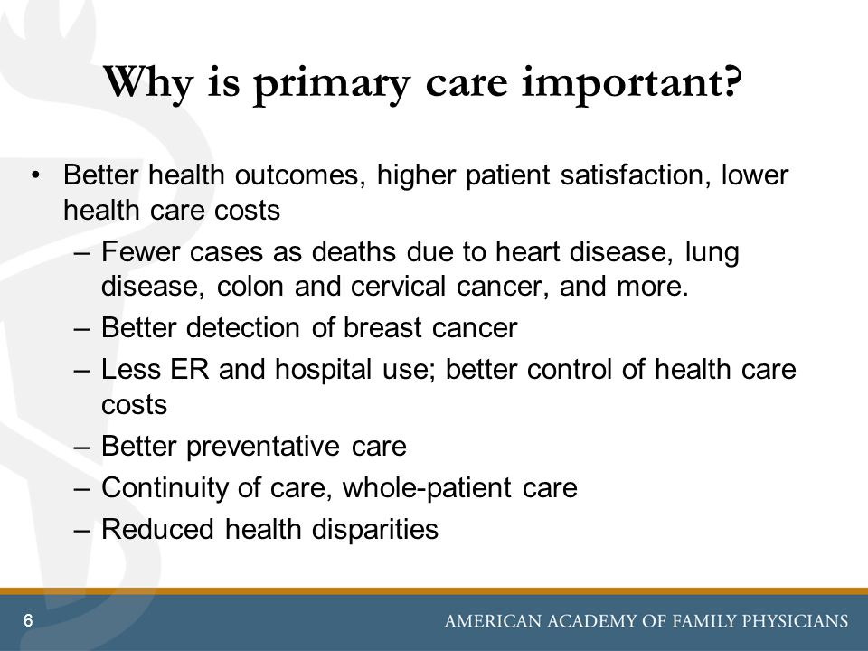 Why is primary care important.