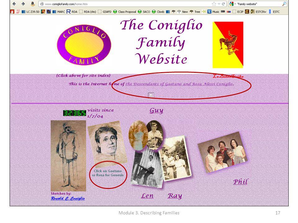 Module 3. Describing Families17