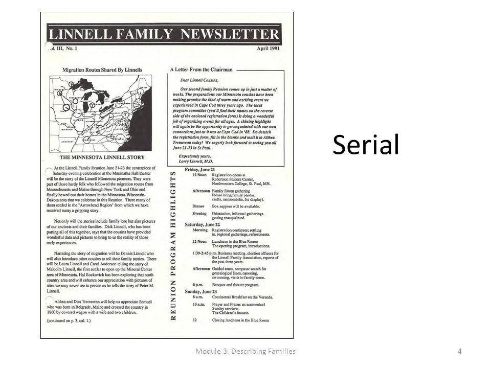 Serial Module 3. Describing Families4