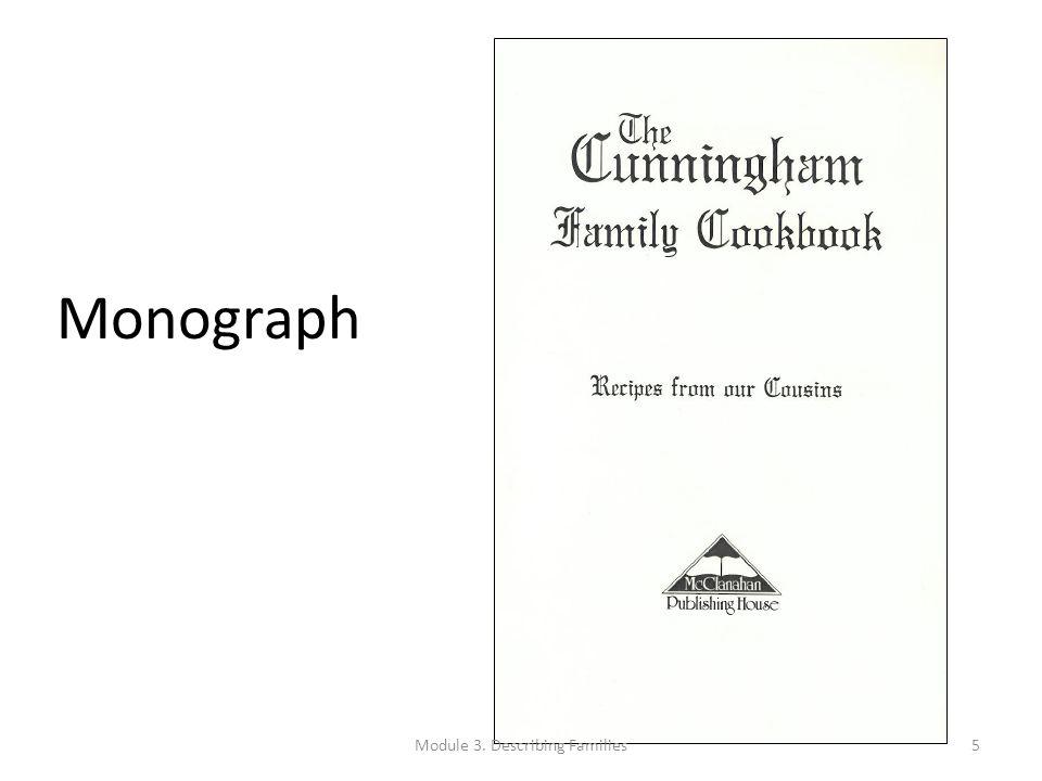 Monograph Module 3. Describing Families5