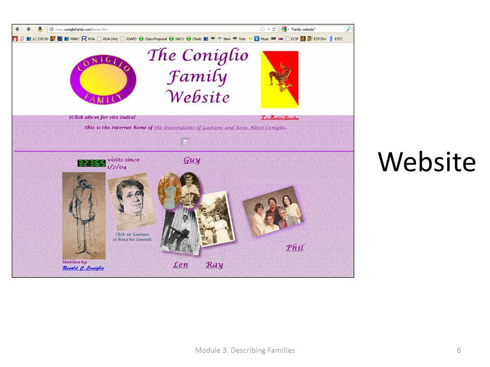 Website Module 3. Describing Families6