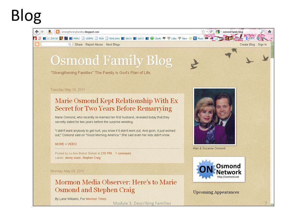 Blog Module 3. Describing Families7
