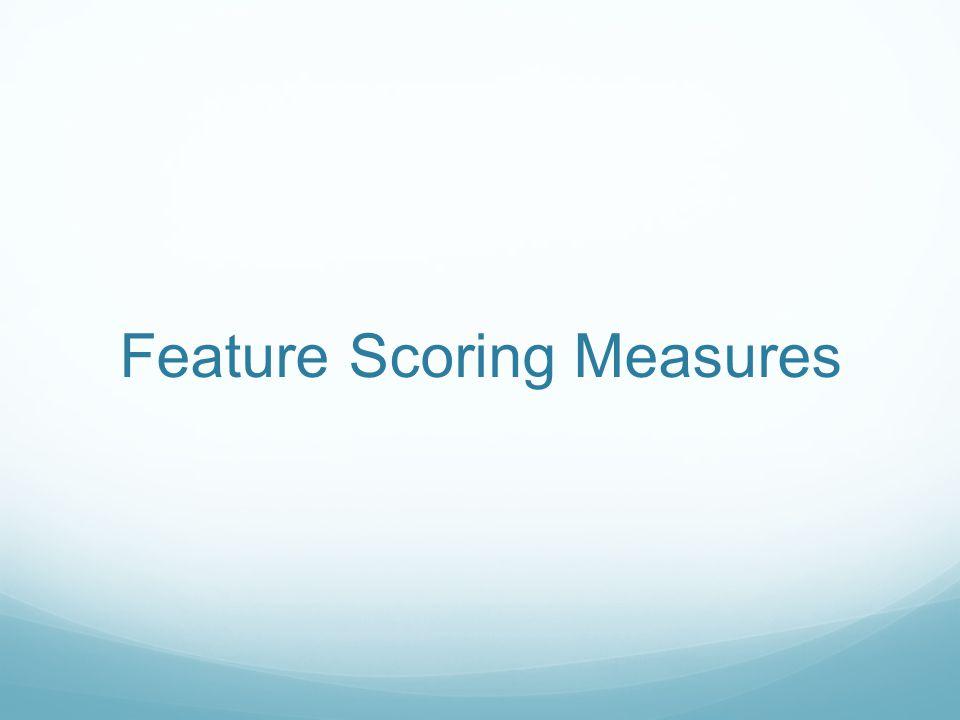 Feature Scoring Measures