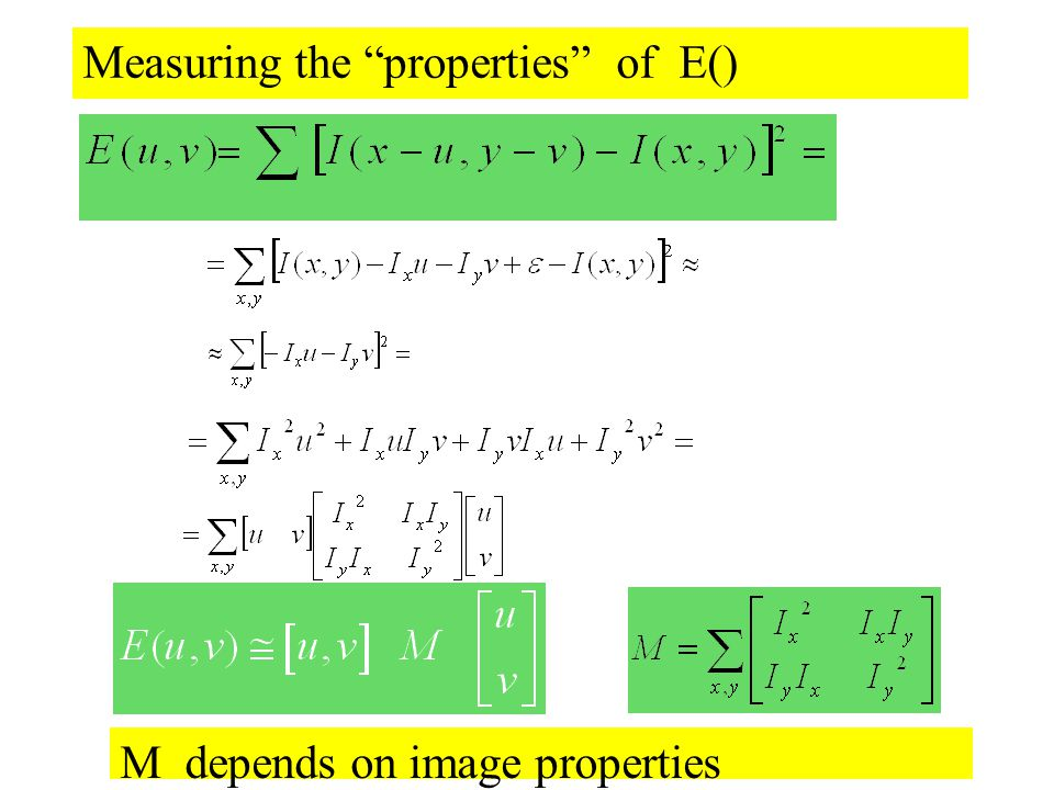 "Measuring the ""properties"" of E() M depends on image properties"