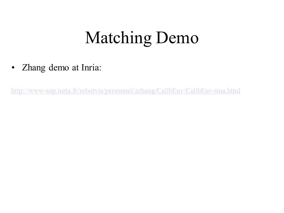 Matching Demo Zhang demo at Inria: http://www-sop.inria.fr/robotvis/personnel/zzhang/CalibEnv/CalibEnv-ima.html