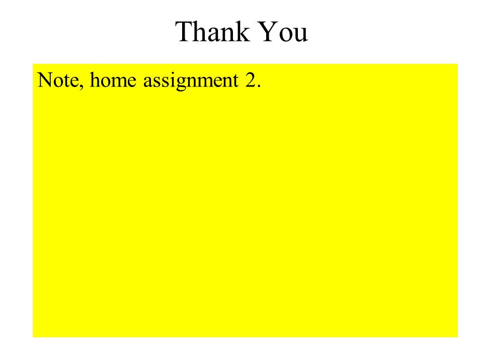 Thank You Note, home assignment 2.