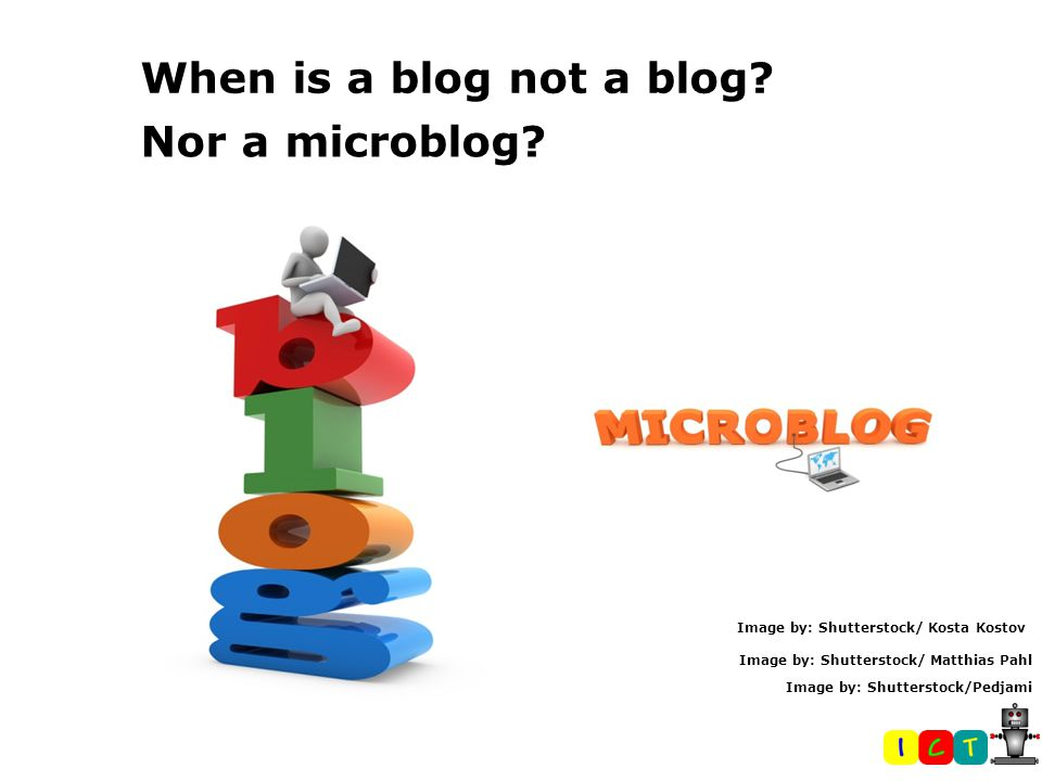 When is a blog not a blog. Nor a microblog.