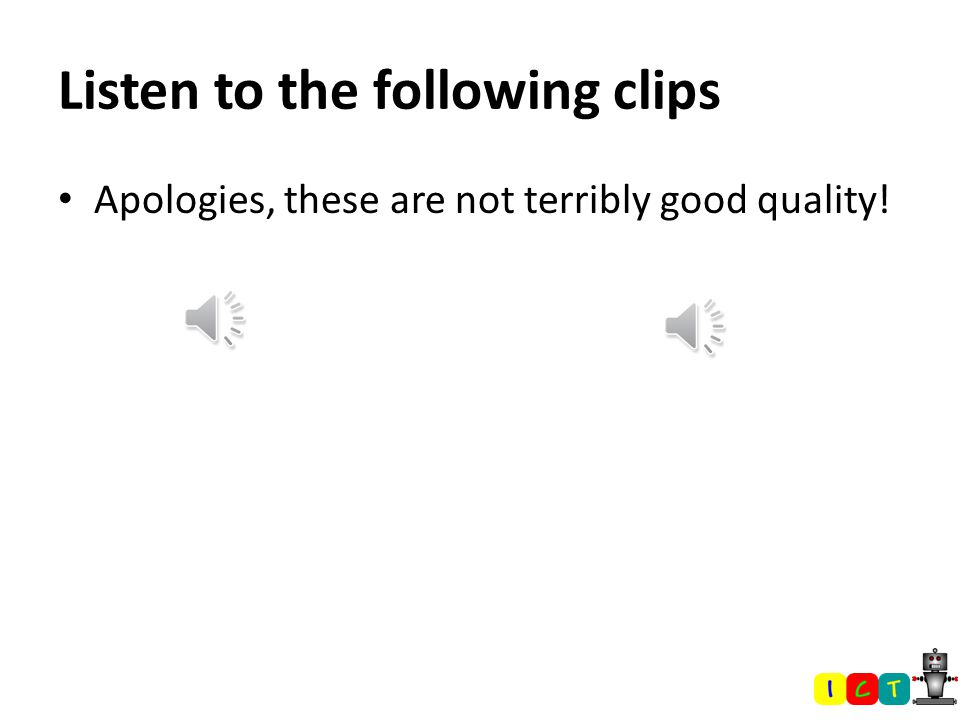 At the end of this lesson students will be able to: Construct an effective script for their audio clip