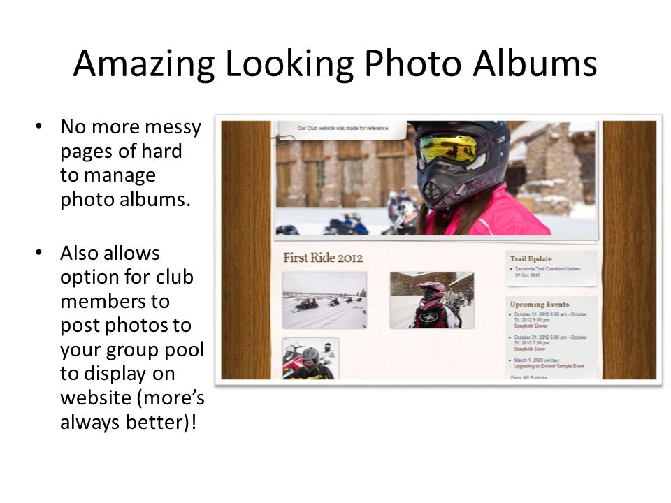 Amazing Looking Photo Albums No more messy pages of hard to manage photo albums.