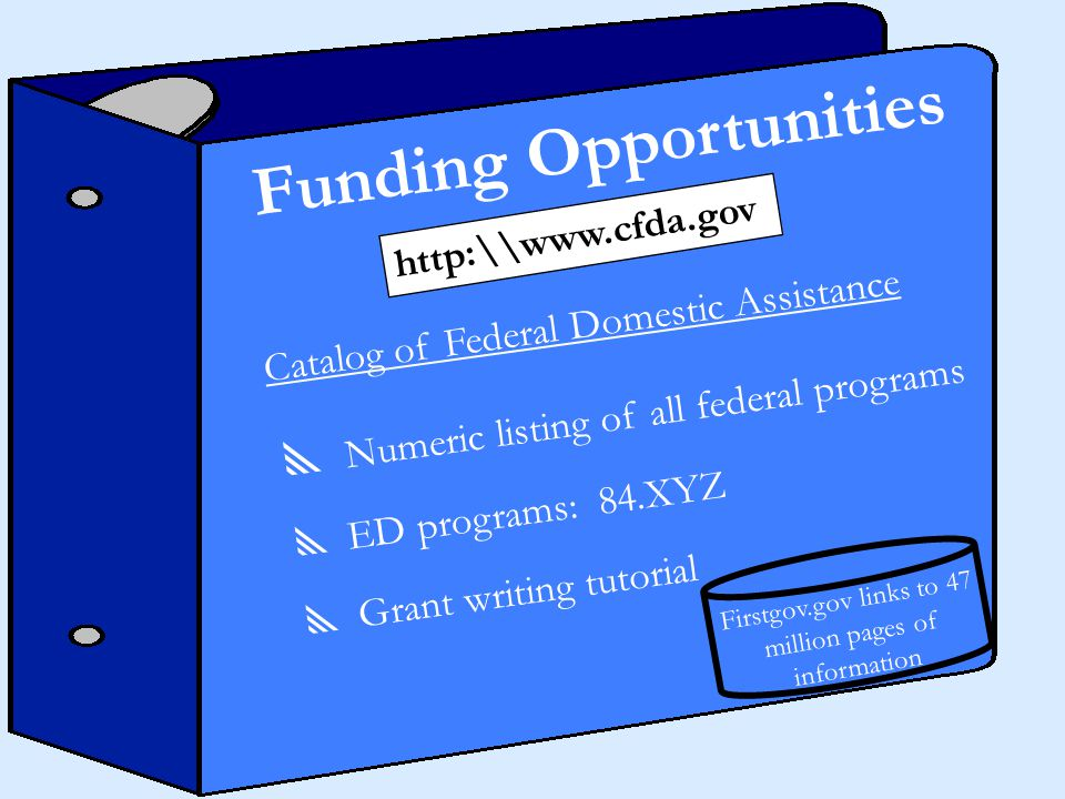 Funding Opportunities http:\\www.firstgov.gov