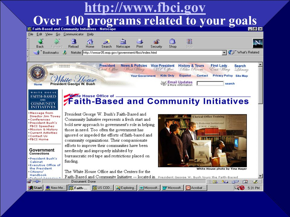 http://www.fbci.gov http://www.fbci.gov Over 100 programs related to your goals
