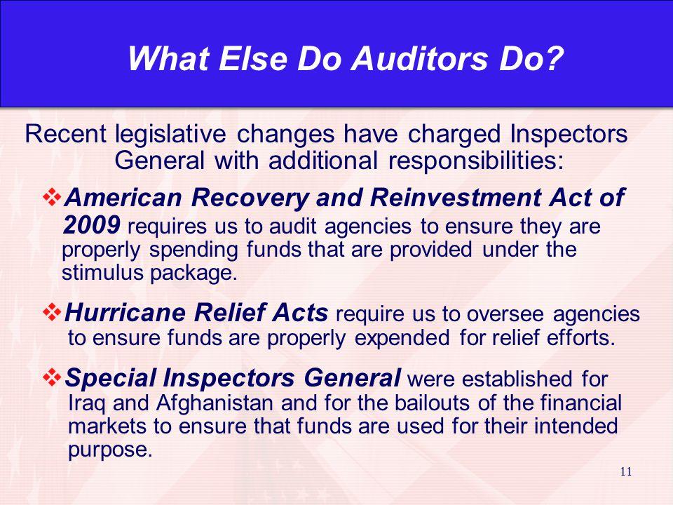 11 What Else Do Auditors Do.