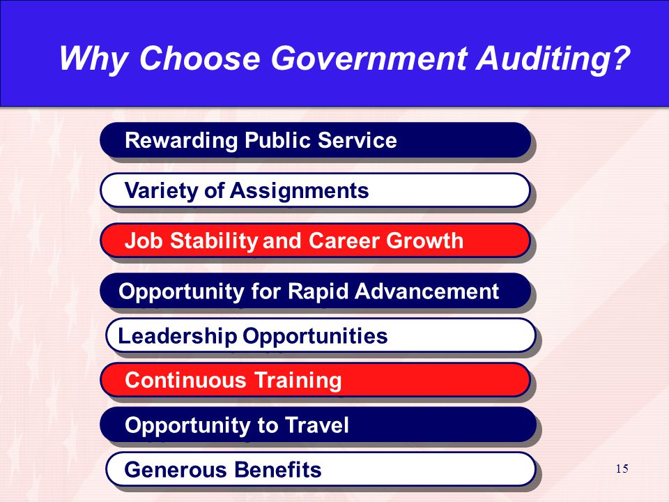 15 Why Choose Government Auditing.