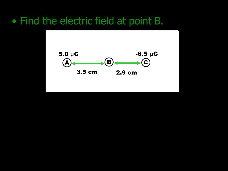 Find the electric field at point B.