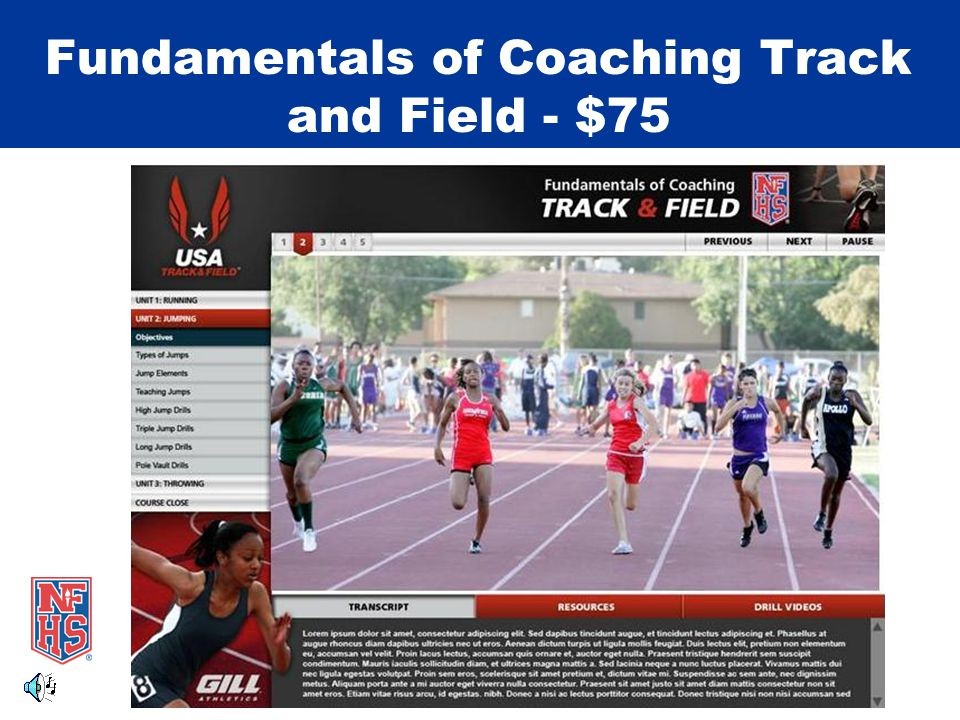 Fundamentals of Coaching Track and Field - $75
