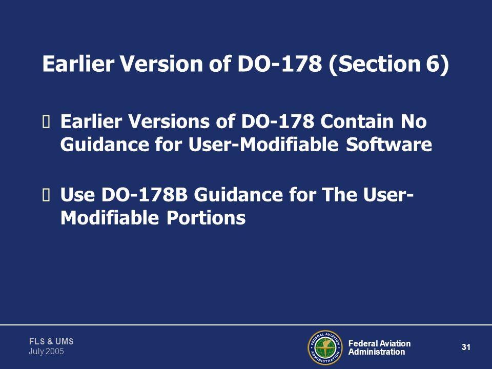 Federal Aviation Administration 30 FLS & UMS July 2005