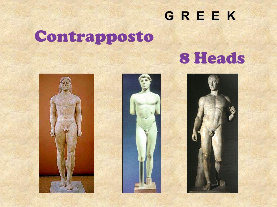 G R E E K Contrapposto 8 Heads