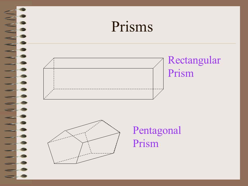Prisms Rectangular Prism Pentagonal Prism