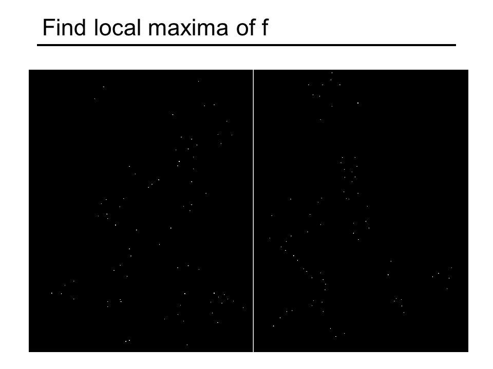 Find local maxima of f