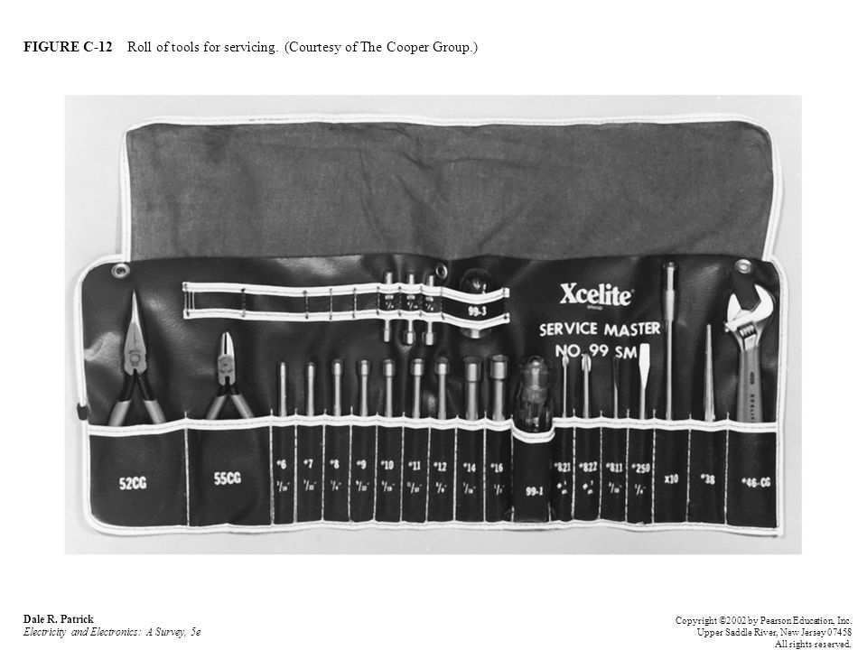 FIGURE C-12 Roll of tools for servicing. (Courtesy of The Cooper Group.) Dale R.
