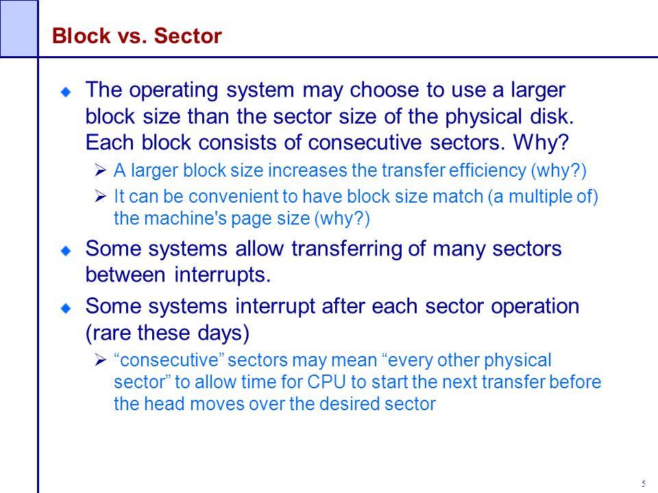 16 Linked index blocks (IB+IB+…) Multilevel index blocks (IB*IB*…) Indexed Allocation Handling large files IB I I I I