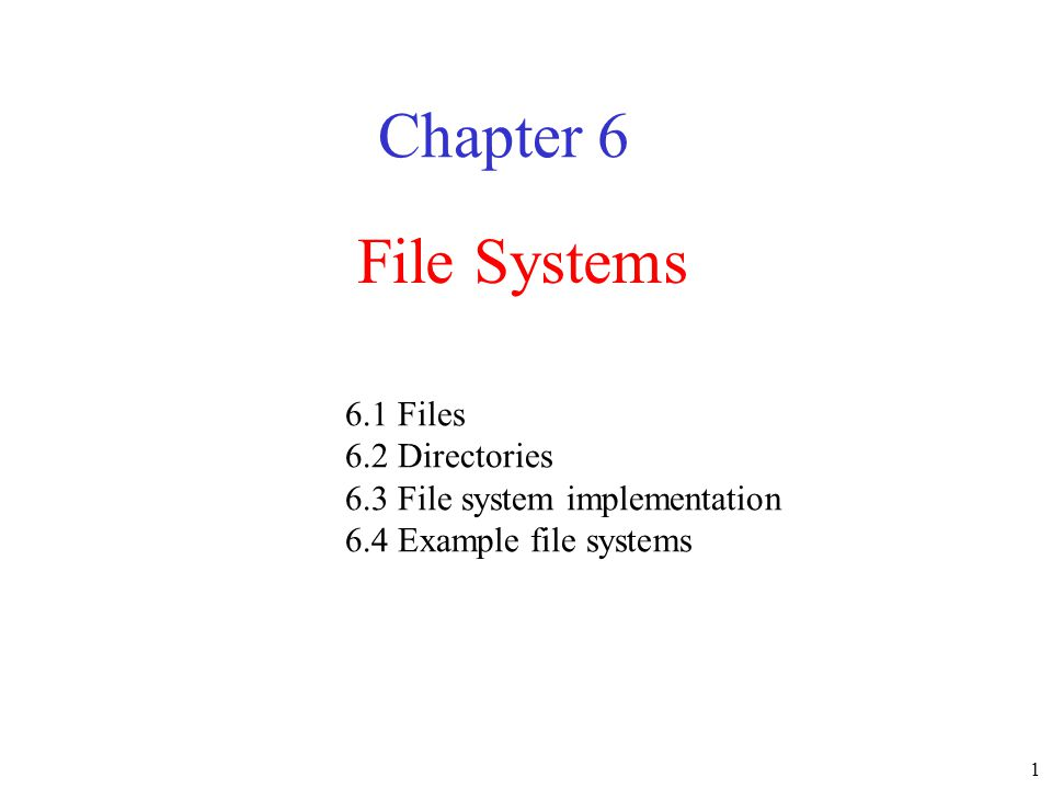 32 File System Reliability (3) File system states (a) consistent (b) missing block (c) duplicate block in free list (d) duplicate data block