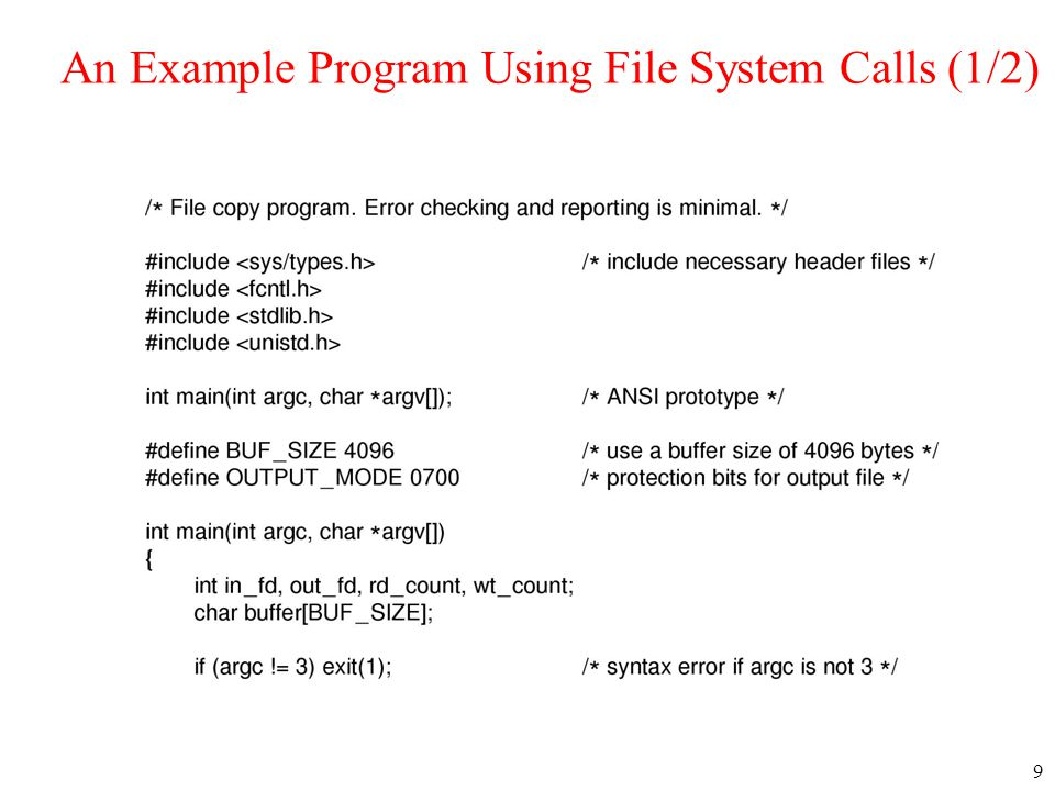 20 Implementing Files (3) Linked list allocation using a file allocation table in RAM