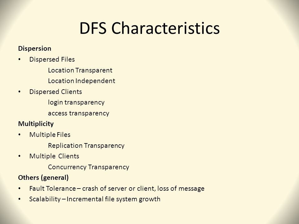 ARCHITECTURE Client chooses one or more FSA to access data object.