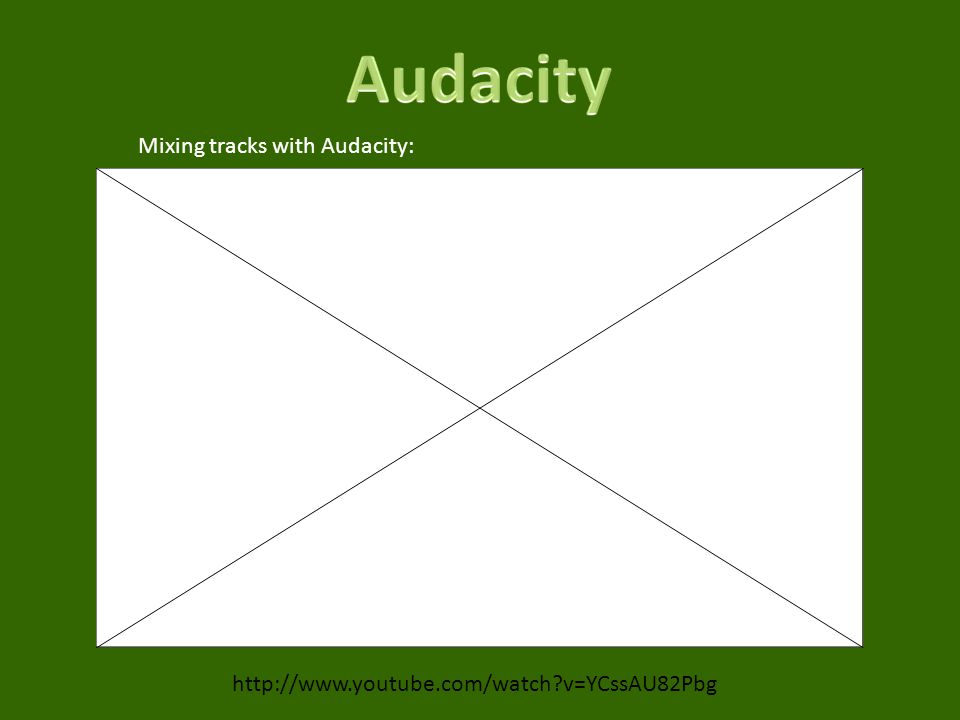 v=YCssAU82Pbg Mixing tracks with Audacity: