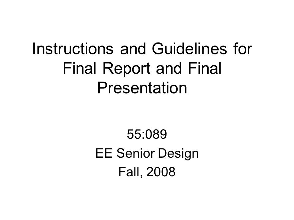 Final Presentations Final Presentation Dates (in-class): –Tuesday, December 9 –Thursday, December 11 NOTE THAT THIS TUESDAY IS NOT A REGULARLY SCHEDULED CLASS METING DATE One presentation per project –15 minutes, 12 for presentation, 3 for questions Time limits will be strictly enforced