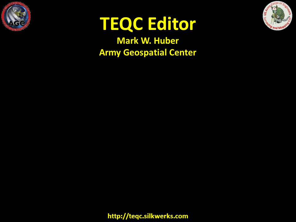 TEQC Editor http://teqc.silkwerks.com http://facility.unavco.org/software/teqc/ Just a front end on the UNAVCO TEQC Translation, Editing, and Quality Checking