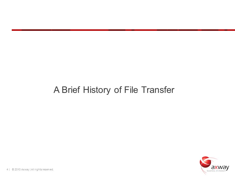 | © 2010 Axway | All rights reserved. 4 A Brief History of File Transfer