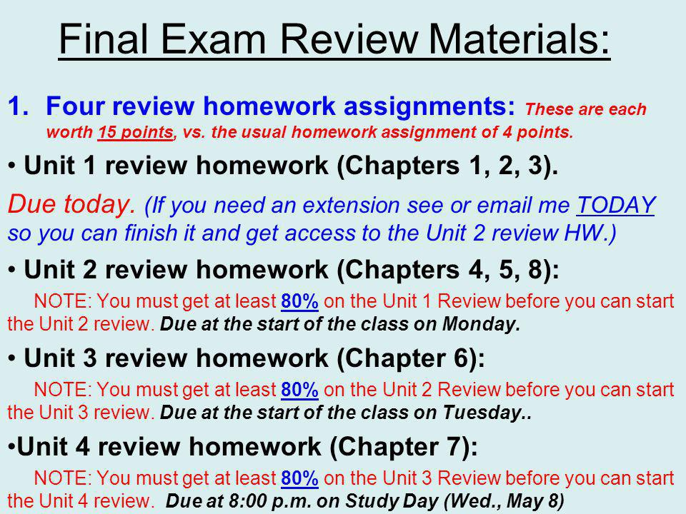 Any questions on the Unit 2 Review Homework from those who have started it already.
