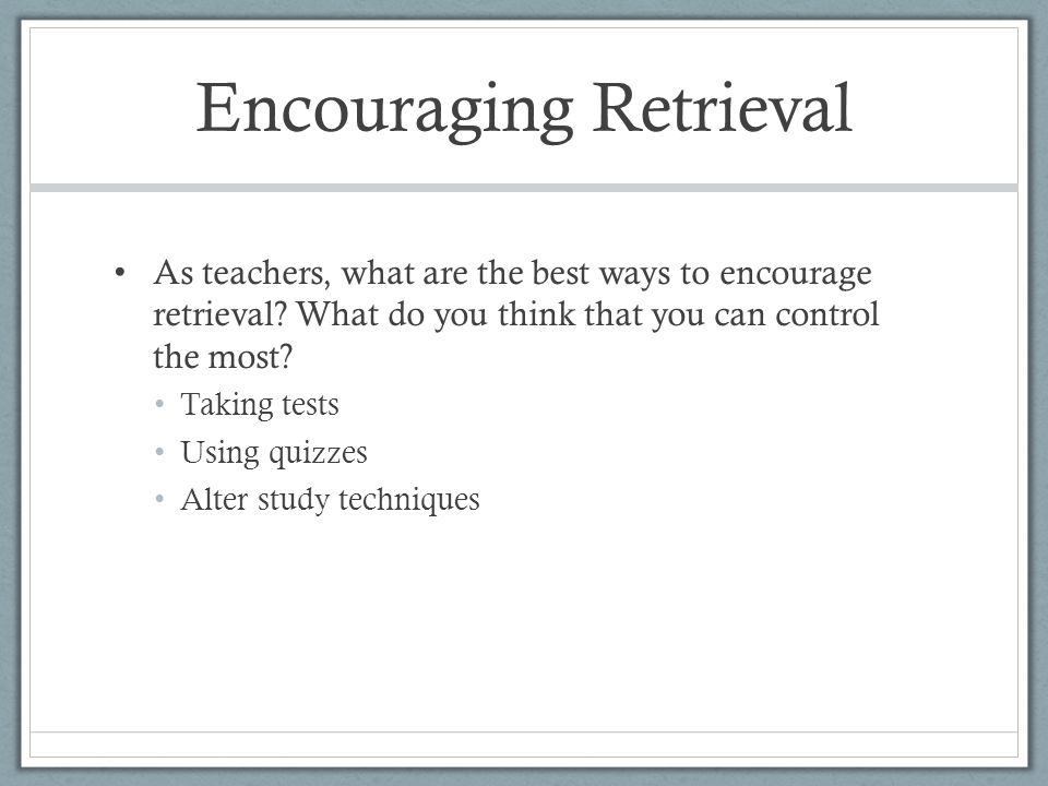 Cumulative Final Exams Conclusions Results indicate that students receiving a cumulative final have greater short- and long-term retention of course-material than do students not receiving a cumulative final This especially was the case for Intro students.