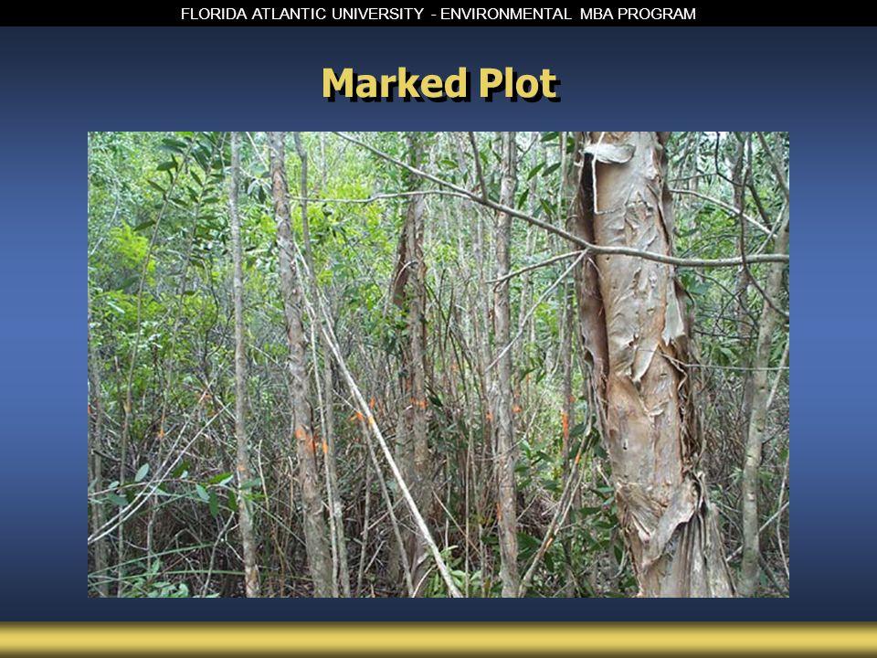 FLORIDA ATLANTIC UNIVERSITY - ENVIRONMENTAL MBA PROGRAM Marked Plot