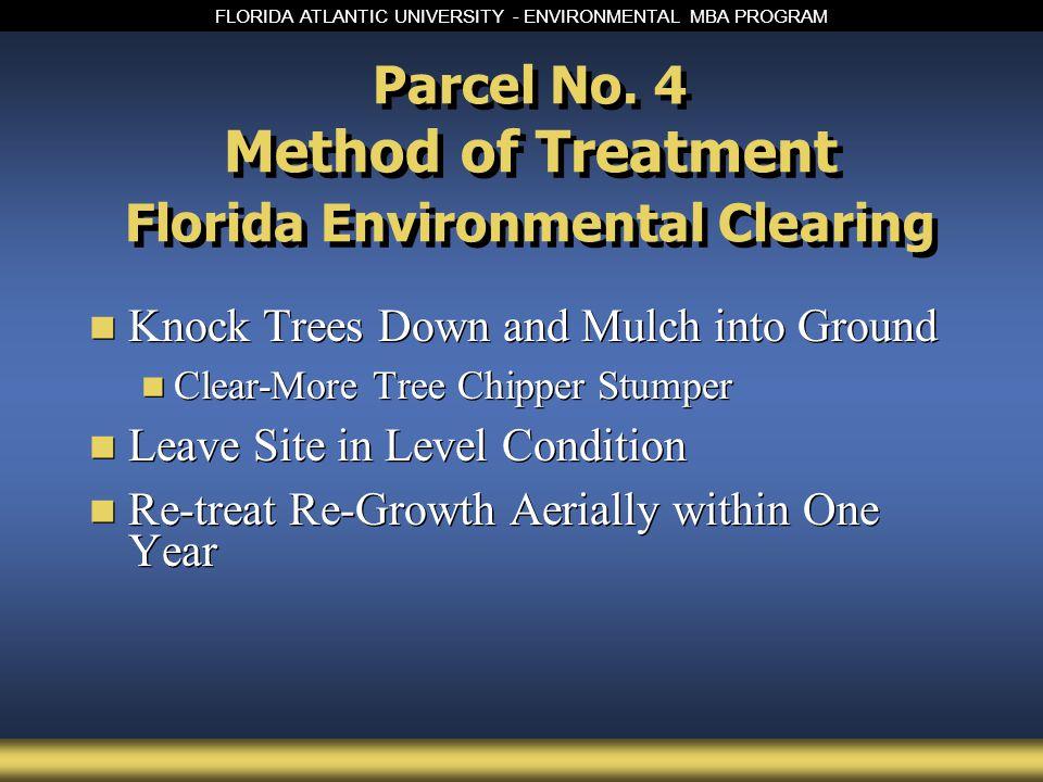FLORIDA ATLANTIC UNIVERSITY - ENVIRONMENTAL MBA PROGRAM Parcel No.