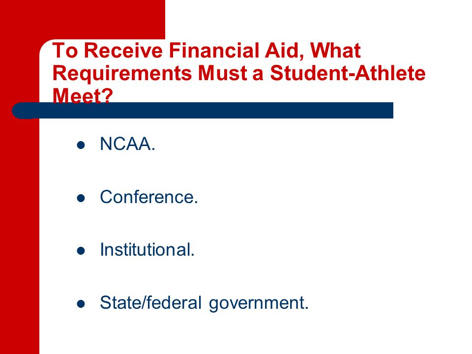 When May a Student-Athlete be Awarded Aid.
