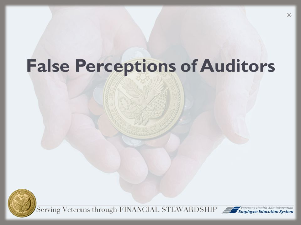 False Perceptions of Auditors 36