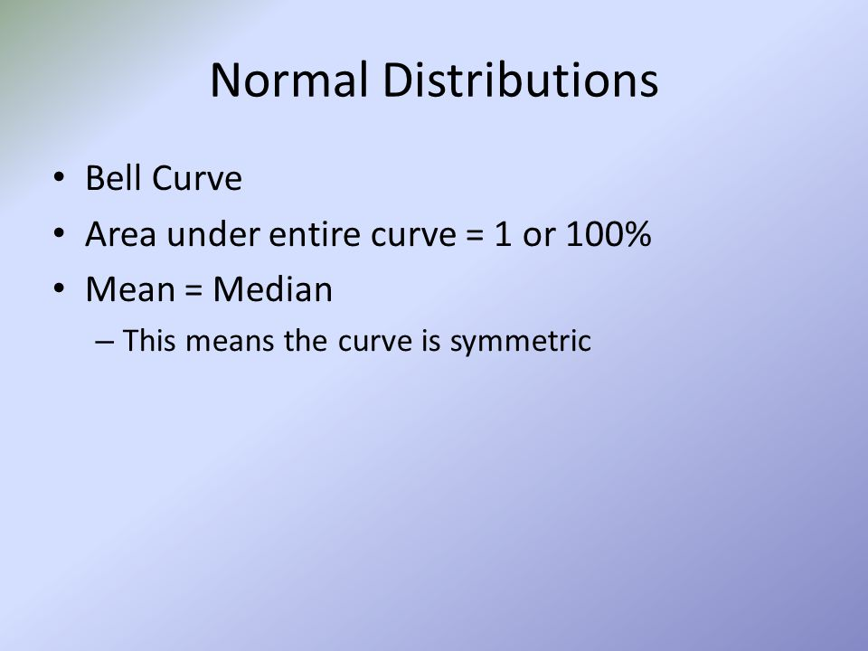 Chapter 6 The Normal Distribution