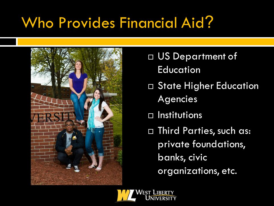 Who Provides Financial Aid .