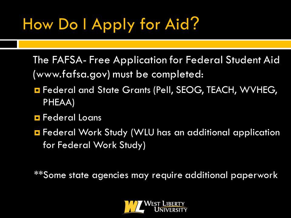 How Do I Apply for Aid .