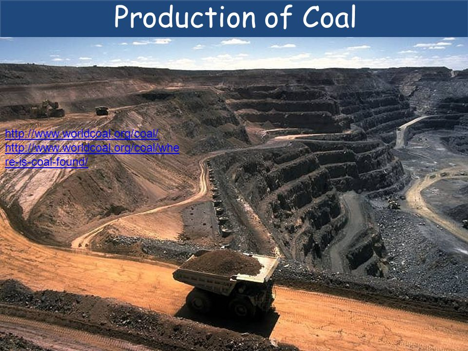 Production of Coal http://www.worldcoal.org/coal/ http://www.worldcoal.org/coal/whe re-is-coal-found/