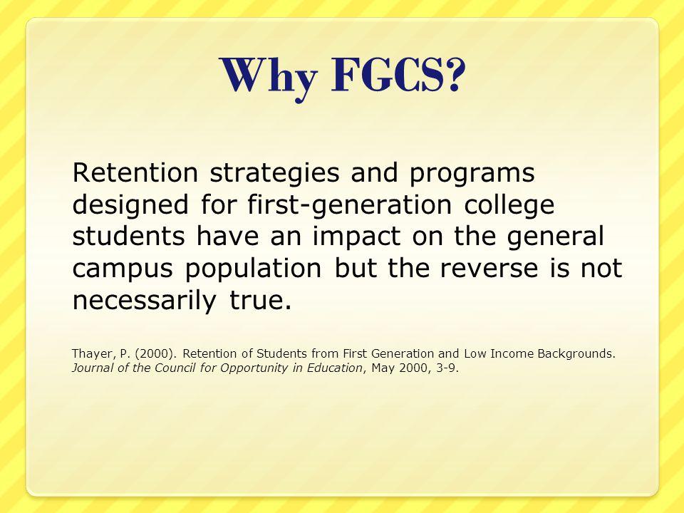 Why FGCS.