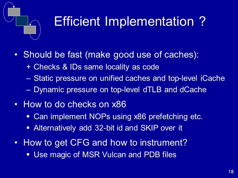 18 Efficient Implementation .