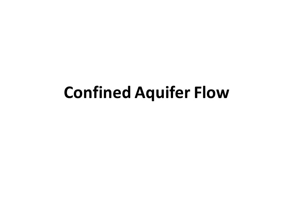 Confined Aquifer Flow