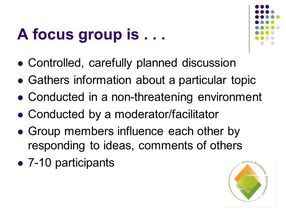 A focus group is...