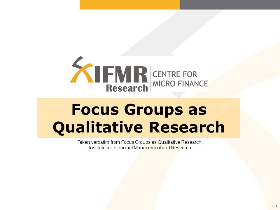 Focus Groups Focus groups are similar to group interviews, although instead of alternation between the researcher's questions and participants' responses, there is interaction within the group on topics supplied by a moderator, usually the researcher.