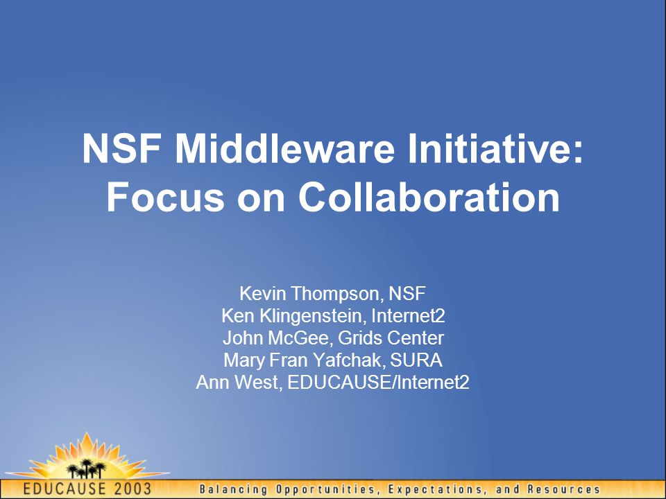 NMI Outreach Participation Overview Users Targeted Communities Testbed Sites Other Interested Implementers Contributors Developers Supporters/ Distributors